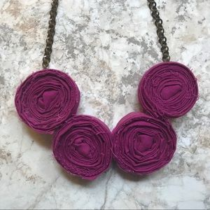 Jewelry - Magenta Rose Statement Necklace